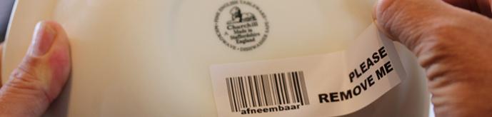 Blijvend Afneembare Labels
