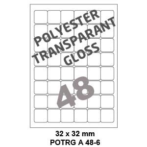 Polyester Transparant Gloss A 48-6 - 32x32mm