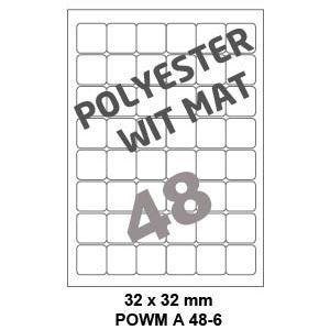 Polyester Wit Mat A 48-6 - 32x32mm