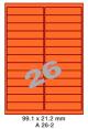 Standaard Oranje A 26-2 - 99.1x21.2mm