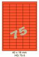 Standaard Oranje HG 75-5 - 40x18mm