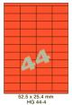 Standaard Oranje HG 44-4 - 52.5x25.4mm
