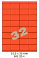 Standaard Oranje HG 32-4 - 52.5x35mm