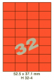 Standaard Oranje H 32-4 - 52.5x37.1mm