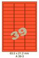 Standaard Oranje A 39-3 - 63.5x21.2mm