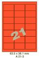 Standaard Oranje A 21-3 - 63.5x38.1mm