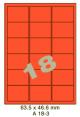 Standaard Oranje A 18-3 - 63.5x46.6mm