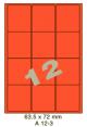 Standaard Oranje A 12-3 - 63.5x72mm