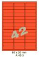 Standaard Oranje A 42-3 - 65x20mm