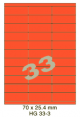 Standaard Oranje HG 33-3 - 70x25.4mm