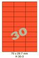 Standaard Oranje H 30-3 - 70x29.7mm