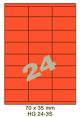 Standaard Oranje HG 24-3S - 70x35mm