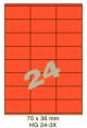 Standaard Oranje HG 24-3X - 70x36mm
