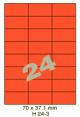 Standaard Oranje H 24-3 - 70x37.1mm