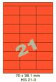 Standaard Oranje HG 21-3 - 70x38.1mm
