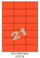 Standaard Oranje H 21-3 - 70x42.4mm