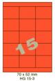 Standaard Oranje HG 15-3 - 70x52mm
