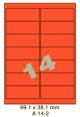 Standaard Oranje A 14-2 - 99.1x38.1mm