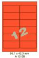 Standaard Oranje A 12-2B - 99.1x42.3mm