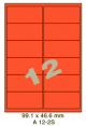 Standaard Oranje A 12-2S - 99.1x46.6mm