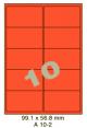 Standaard Oranje A 10-2 - 99.1x56.8mm
