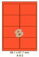 Standaard Oranje A 8-2 - 99.1x67.8mm