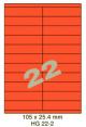 Standaard Oranje HG 22-2 - 105x25.4mm