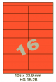 Standaard Oranje HG 16-2B - 105x33.9mm
