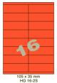 Standaard Oranje HG 16-2S - 105x35mm
