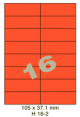 Standaard Oranje H 16-2 - 105x37.1mm