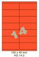 Standaard Oranje HG 14-2 - 70x38.1mm