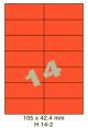 Standaard Oranje H 14-2 - 105x42.4mm