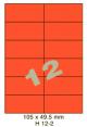 Standaard Oranje H 12-2 - 105x49.5mm