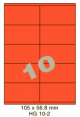 Standaard Oranje HG 10-2 - 105x56.8mm