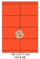 Standaard Oranje HG 8-2B - 105x67.7mm