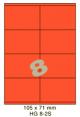 Standaard Oranje HG 8-2S - 105x71mm