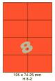 Standaard Oranje H 8-2 - 105x74.25mm