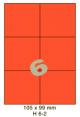 Standaard Oranje H 6-2 - 105x99mm