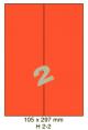 Standaard Oranje H 2-2 - 105x297mm