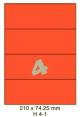 Standaard Oranje H 4-1 - 210x74.25mm