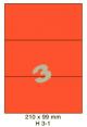 Standaard Oranje H 3-1 - 210x99mm