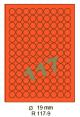 Standaard Oranje R 117-9 Dia 19mm