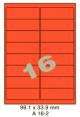 Standaard Oranje A 16-2 - 99.1x33.9mm
