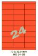Standaard Oranje HG 24-3B - 70x33.9mm